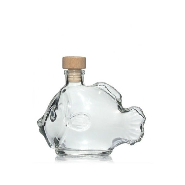 200ml flaske i klart glas
