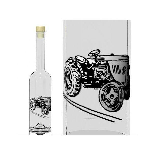 500 ml. Flaske med traktor