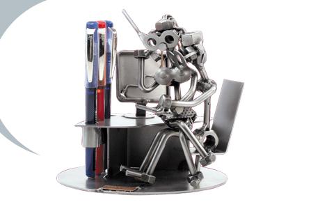 Metalfigur - Sex på kontor