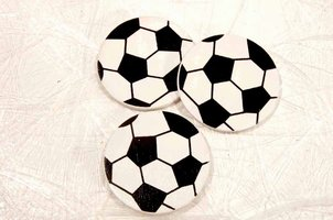 Fodbold - Flade fodbolde 12 stk. - Hvid/sort