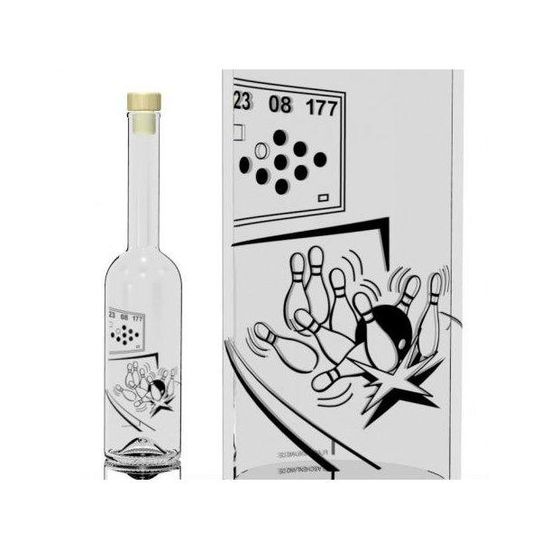 500 ml. Flaske med bowling motiv