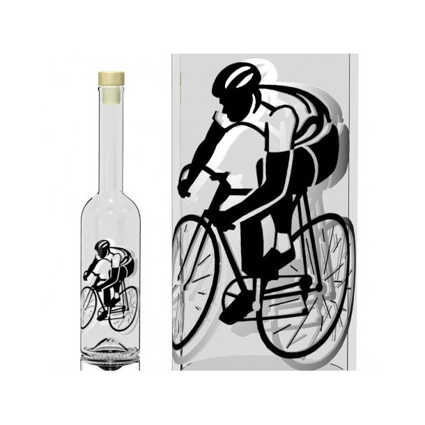 500 ml. Flaske med cykelrytter