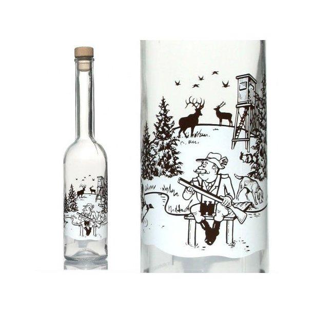 500 ml. Flaske med jagtmotiv.