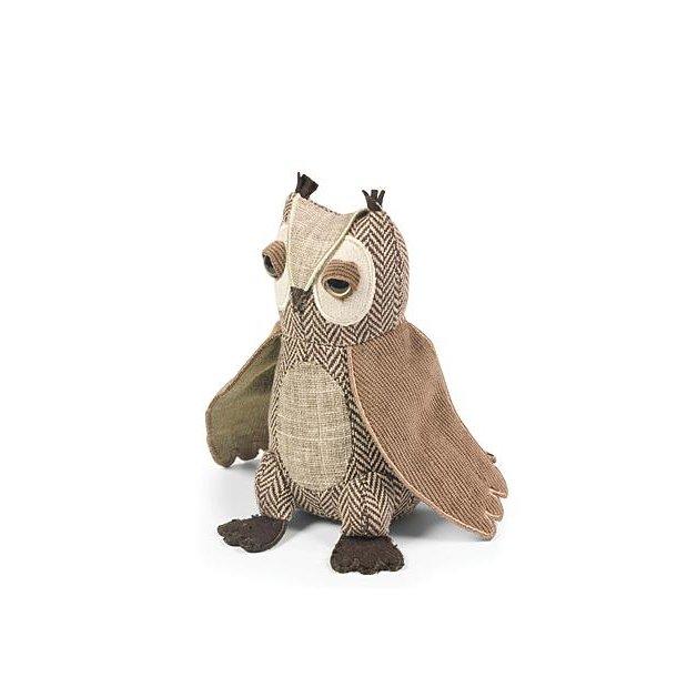 Ugle - Short Eared Owl Junior - papirvægt - Ugle med studenterhue