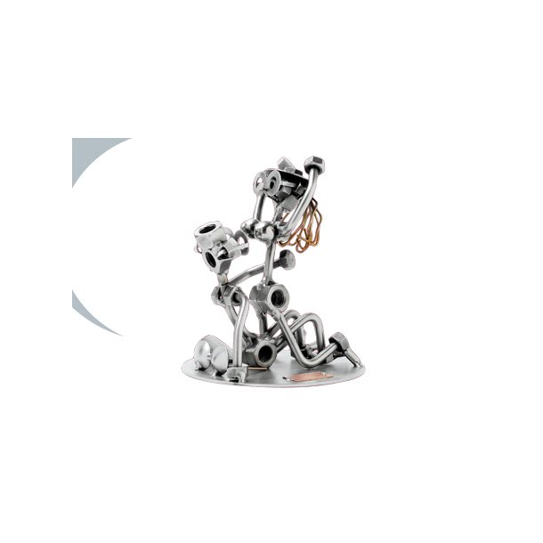 Metalfigur - Sex på gulvet