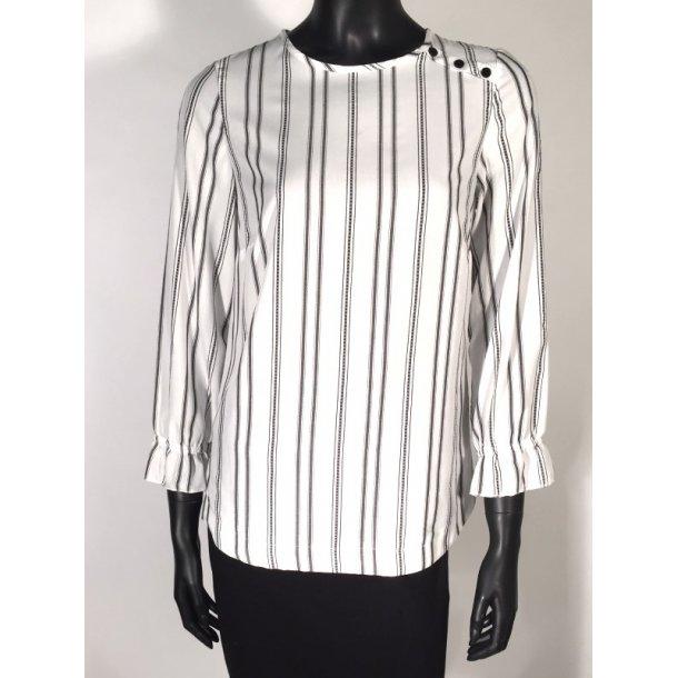 Skjortebluse - 6'am - Amone Black 2 stripe