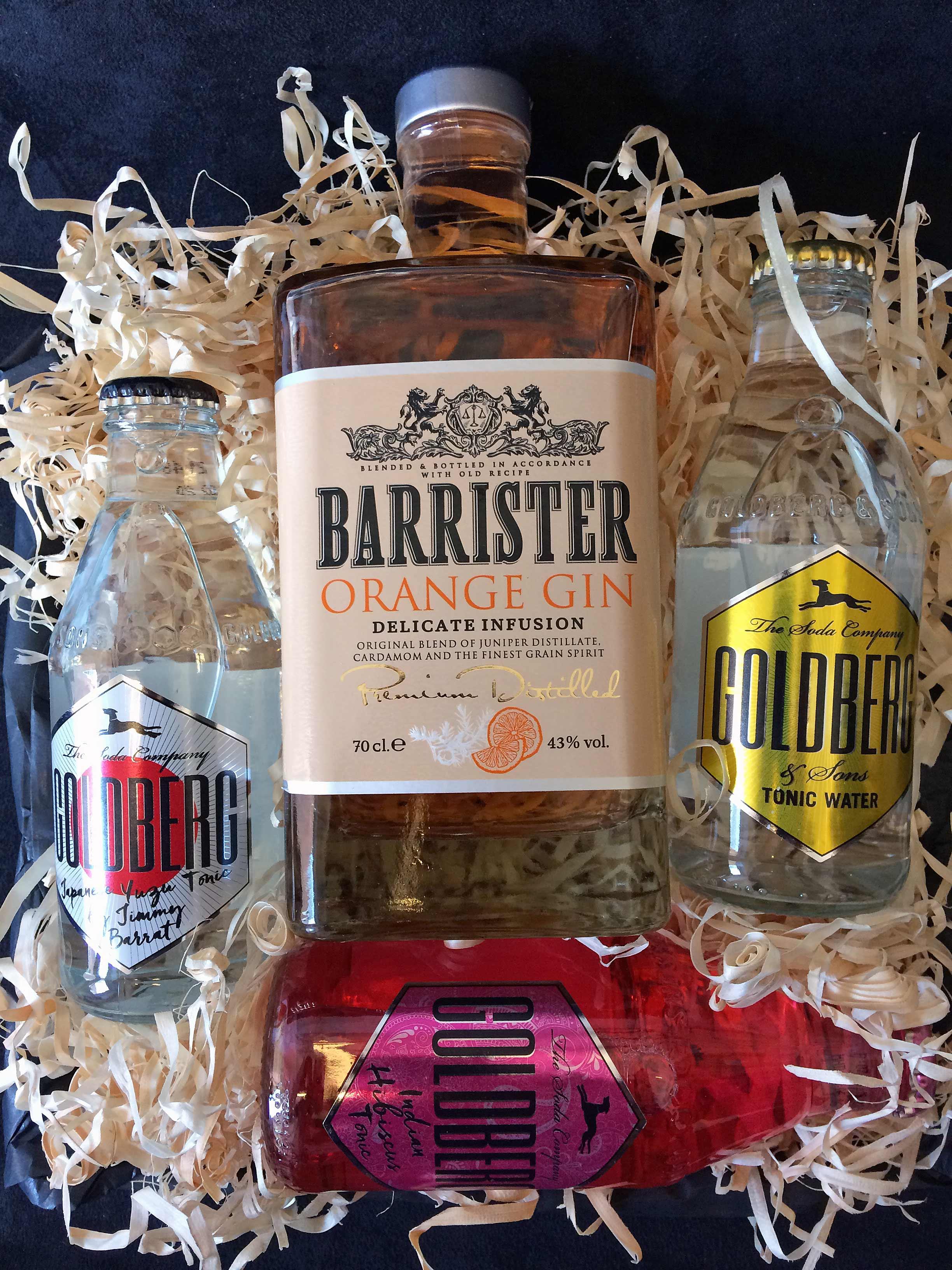 Gavekurv – Gin og Tonic – Barrister Orange