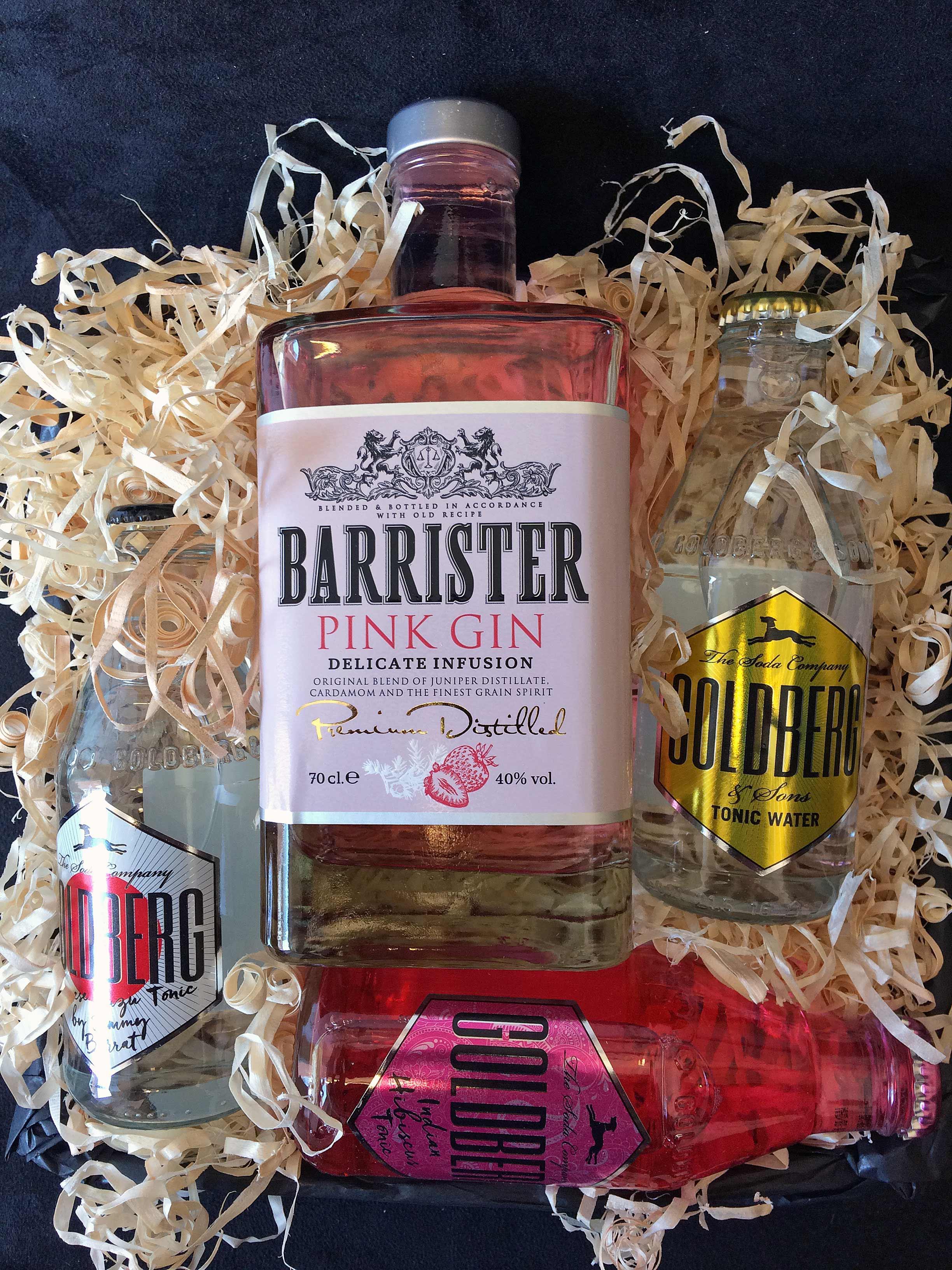 Gavekurv – Gin og Tonic – Barrister Pink