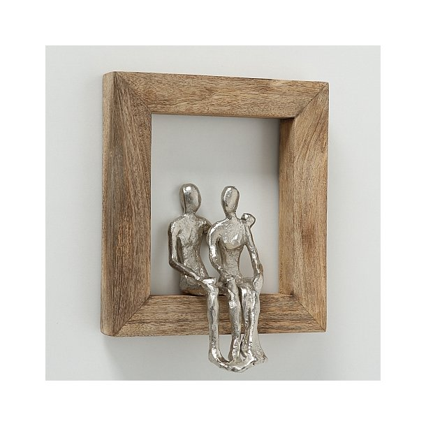 Figur – Mangotræ ramme med par