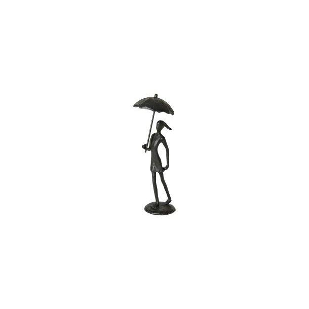 Figur – Pige med paraply