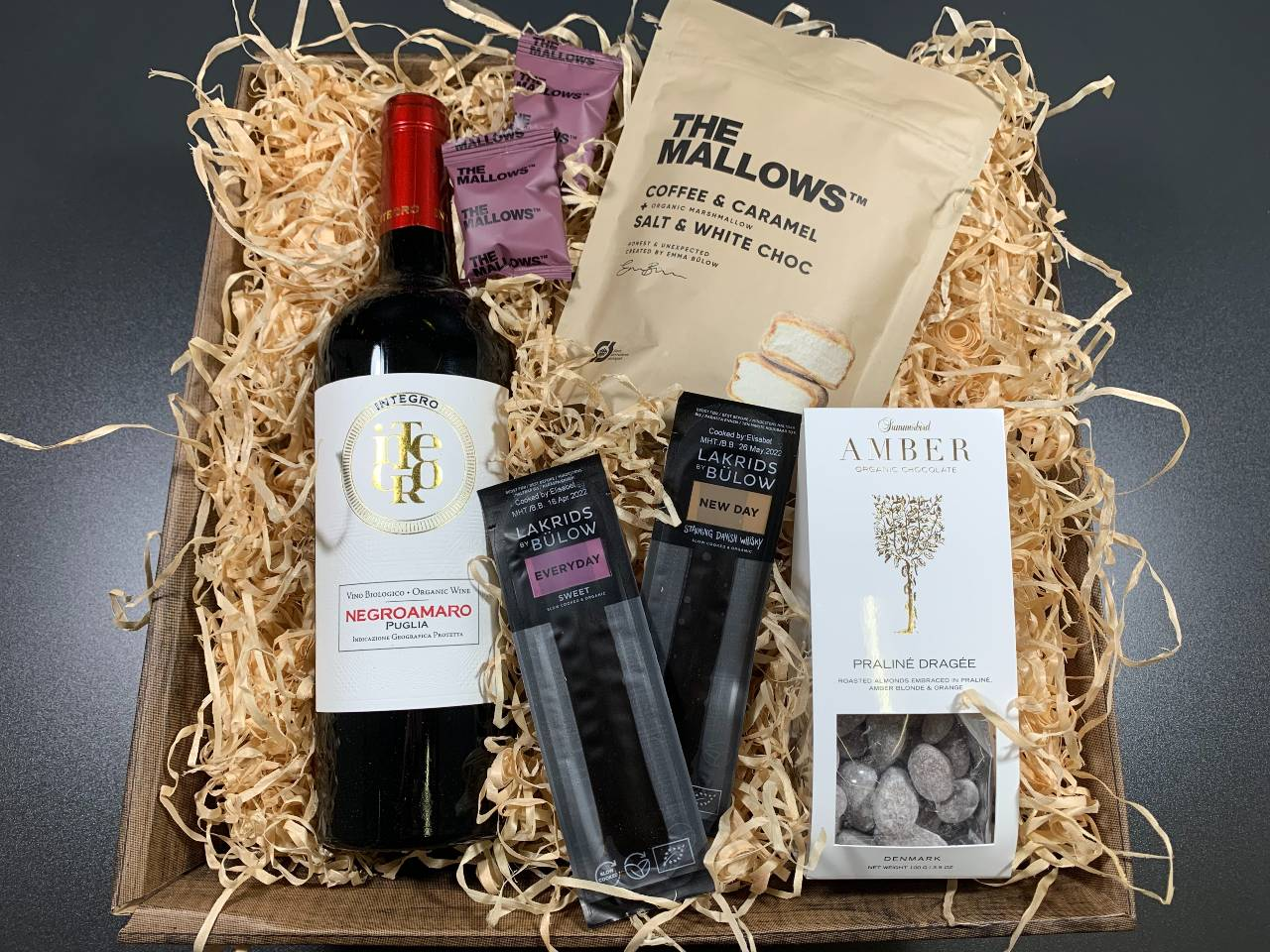 Gavekurv – Økologiske gavekurv med vin