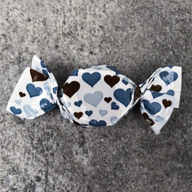 karameller - blå hjerter