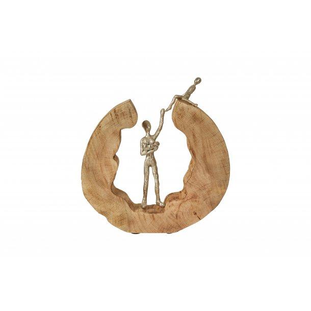 Figur – Mangotræ med alu. Kvinde og børn.