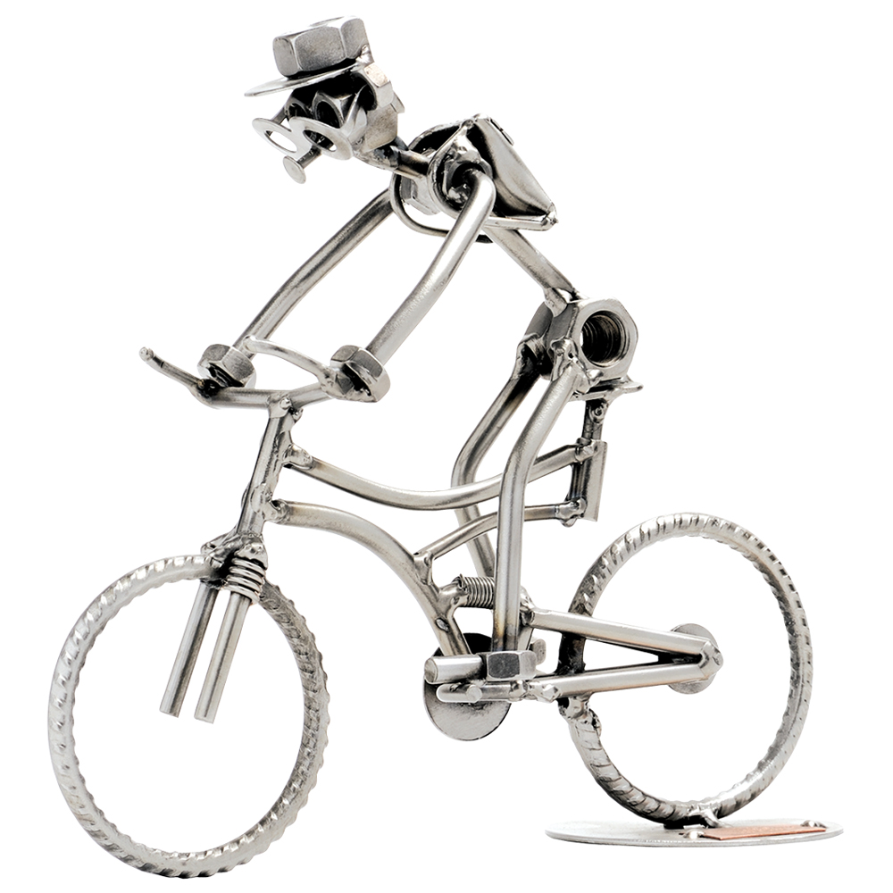 Metalfigur - Mountainbike