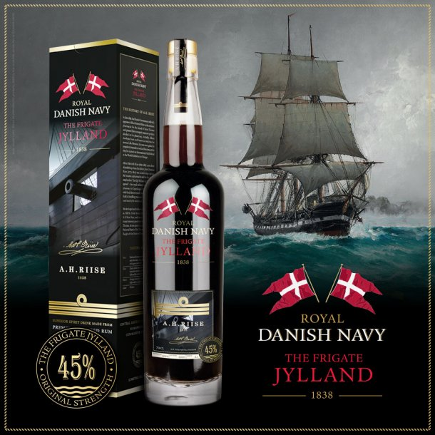 A.H. Riise Royal Danish Navy The Frigate Jylland Rum - 45% - 70 cl