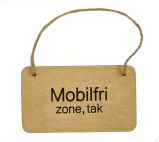 Skilt - Mobil Fri Zone