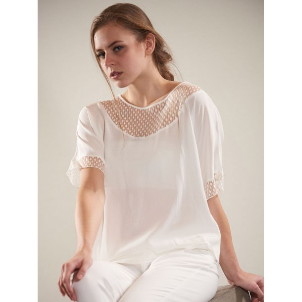 Bluse - 6'am - Betty off white dots