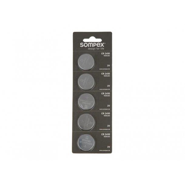 5 pak. med knapcelle batterier CR24/50
