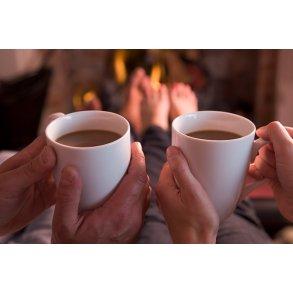 Kaffe, te, marmelade og kager