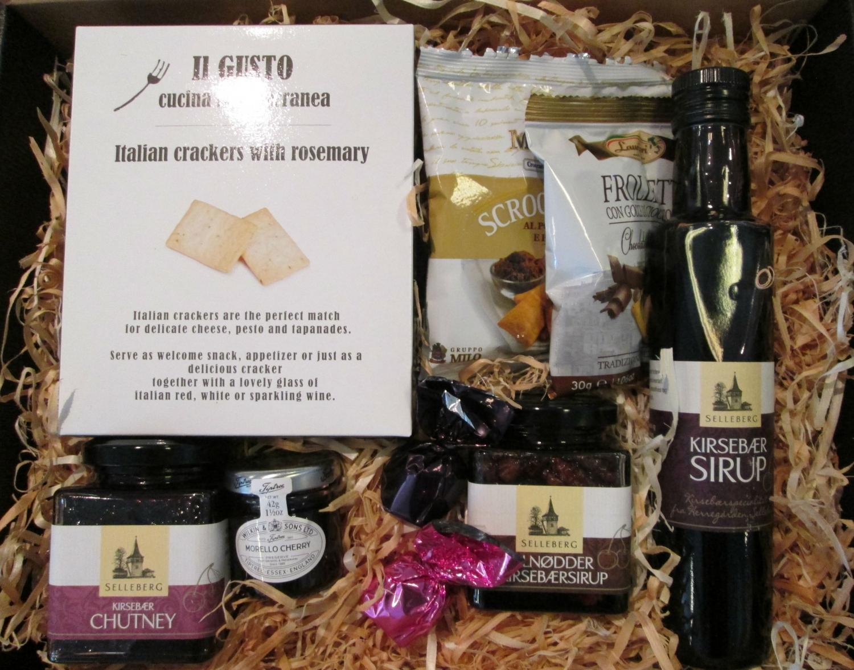 Gavepakke – Kirsebær specialiteter – 250,- kr.