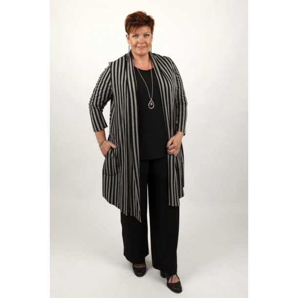 Kanok – Cardigan – Sorine Grey Stripes