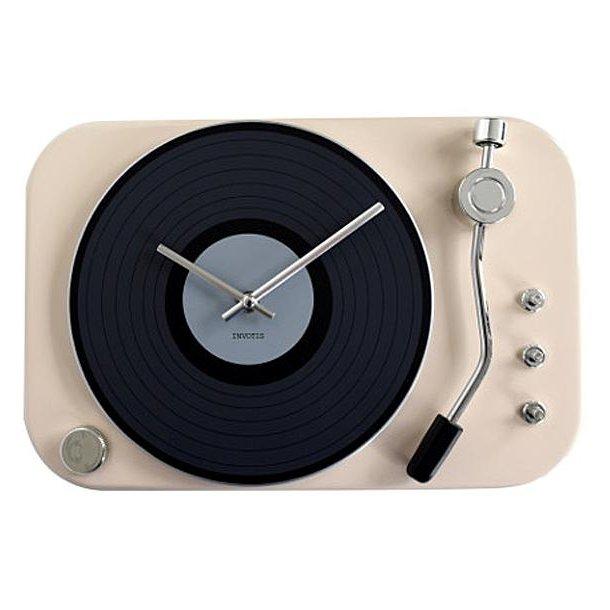 Clock record-player - white - Ur