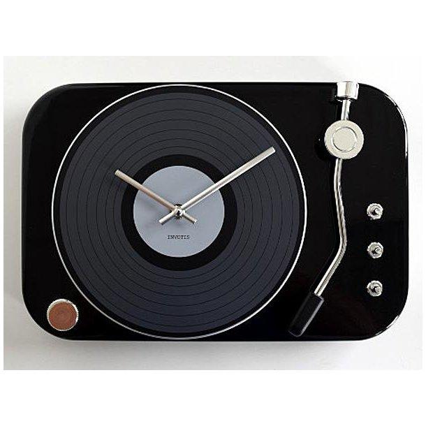 Clock record-player - black - Ur